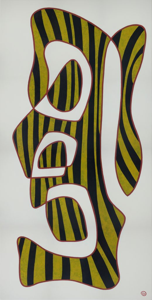Angry, 152 x 76 cm, Acrylic on linen, $1,200.