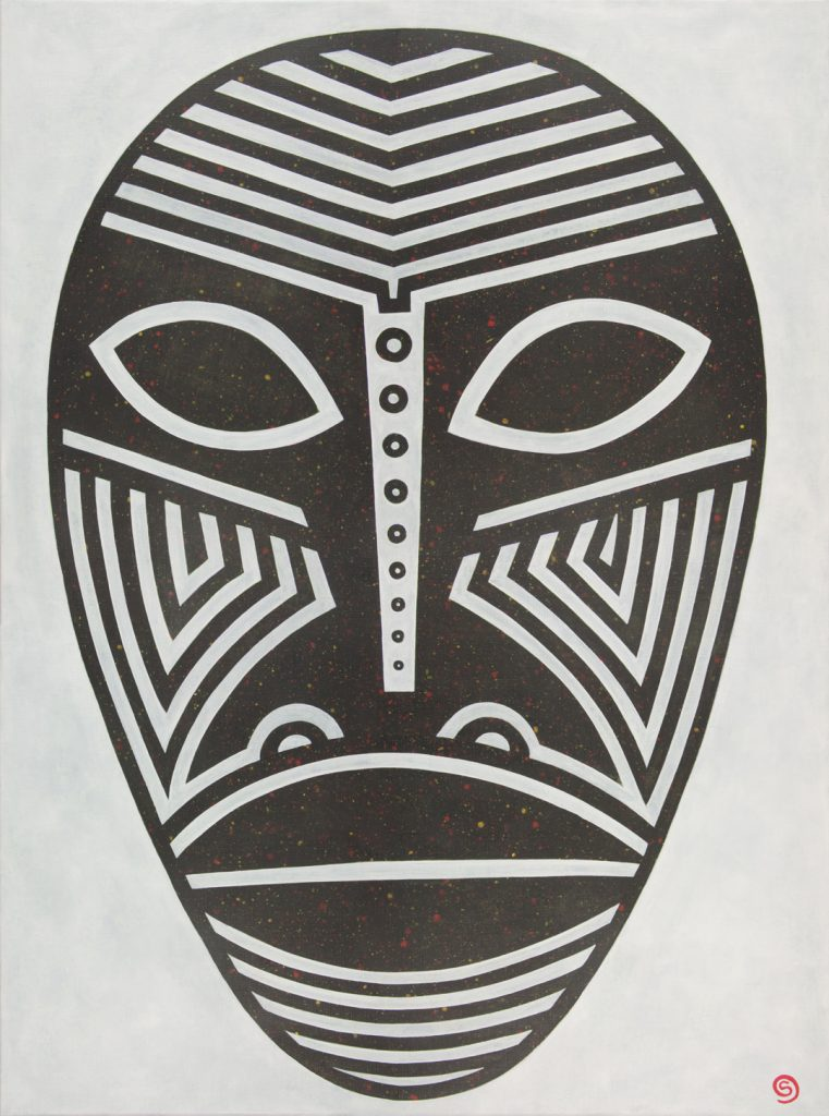 Mask, 102 x 76 cm, Acrylic on linen, $900.