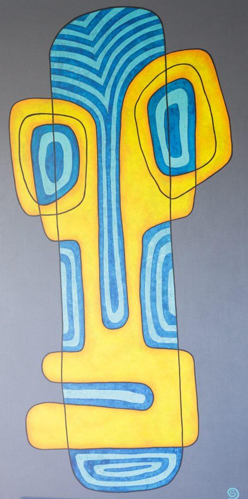 Bewildered, 152 x 76 cm, Acrylic on linen $1,600.
