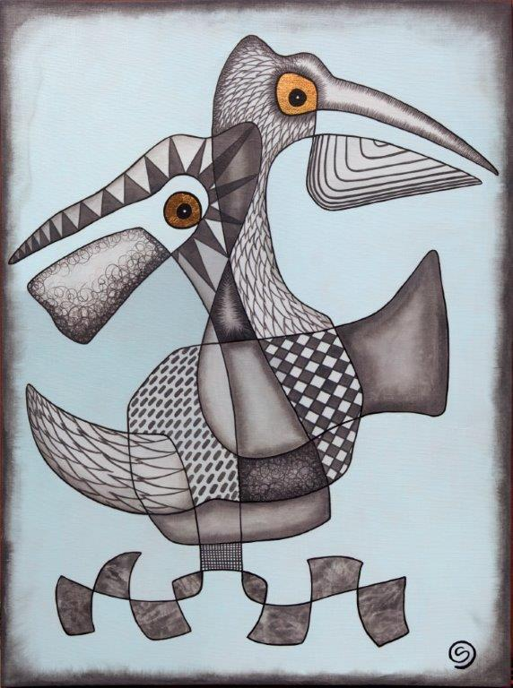 Pelican Pair, original SOLD.