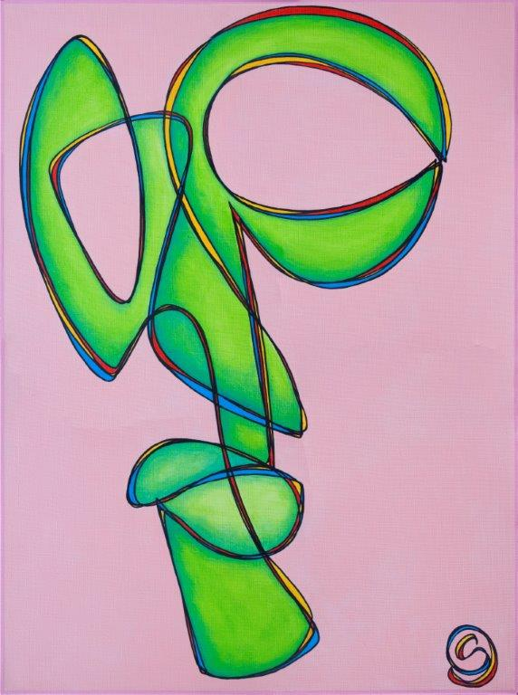 Pink Muse,102 x 76 cm Acrylic on linen, $900.