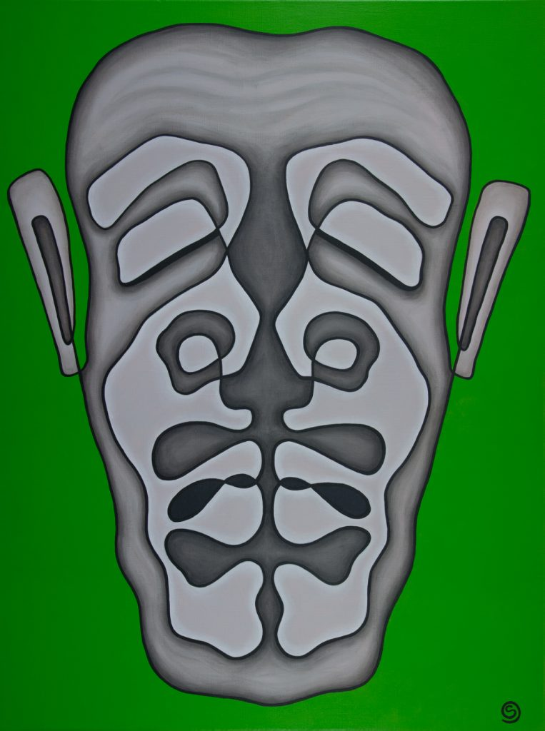 Separated, 102 x 76 cm, Acrylic on linen, $900.