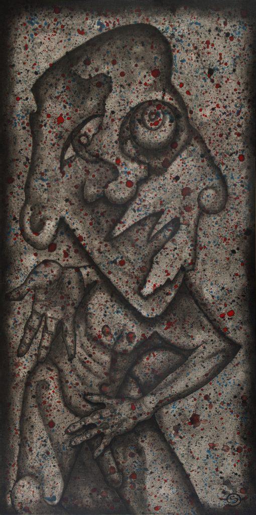 Shame, 152 x 76 cm, Acrylic on Linen, $1,600.