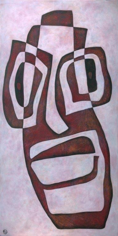 Stubborn, 152 x 76 cm, Acrylic on linen, $1,600.
